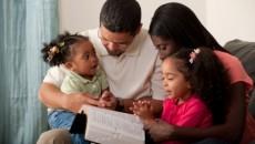 parents reading bible