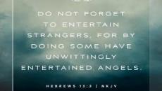 entertain strangers angels