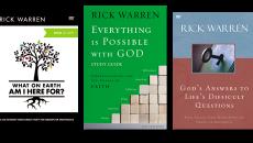 3 studies from rick warren