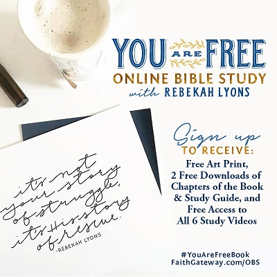 Image result for you are free rebekah lyons kickoff event