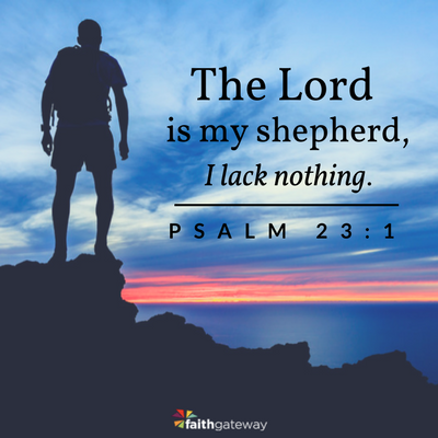 Meditation helps focus on God; Psalm 23:1