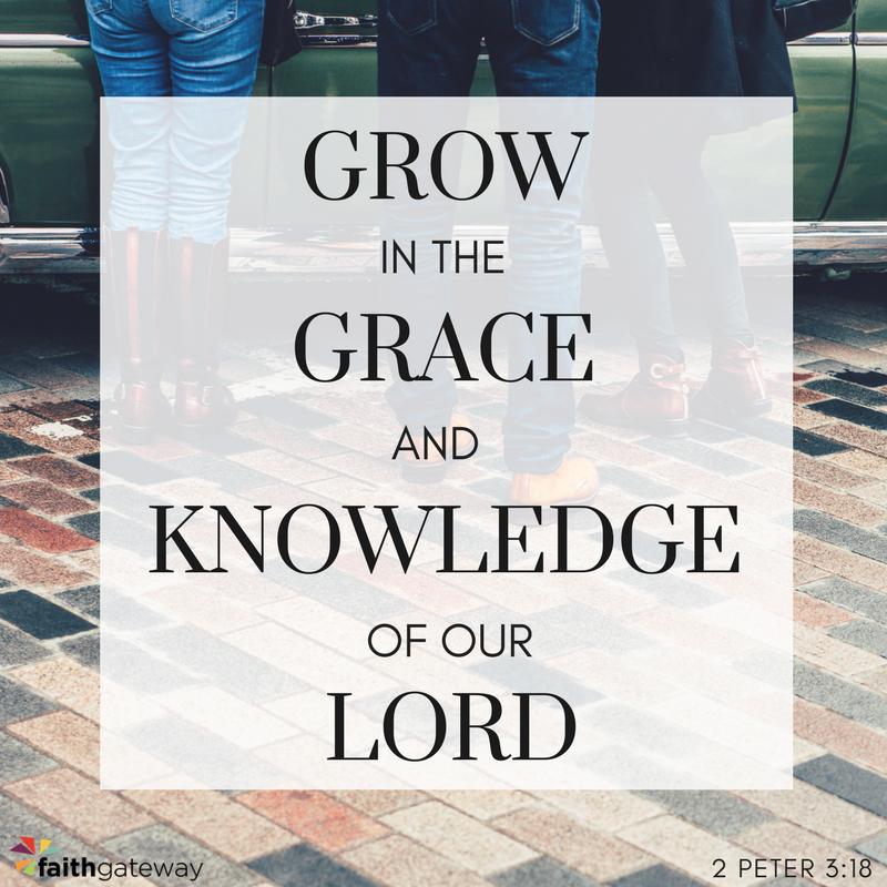 Grow in God's grace