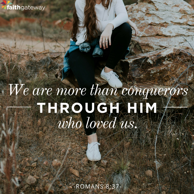 Through him who loves us