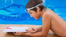 Pool Reading Child