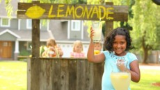 kids lemonade stand earn money