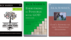 3 studies from rick warren