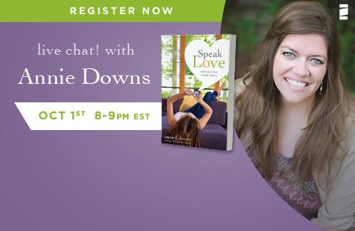 Annie Downs live chat FaithGateway