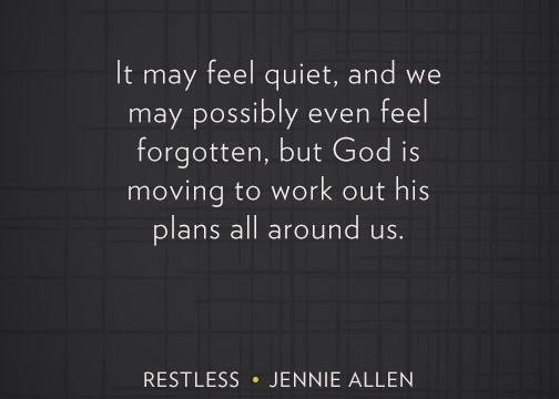 restless god is moving