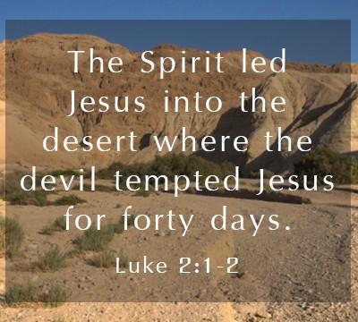 Luke 4:1-2