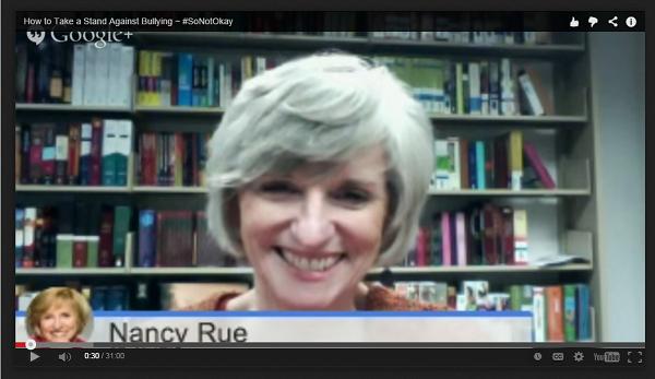 nancy rue so not okay video