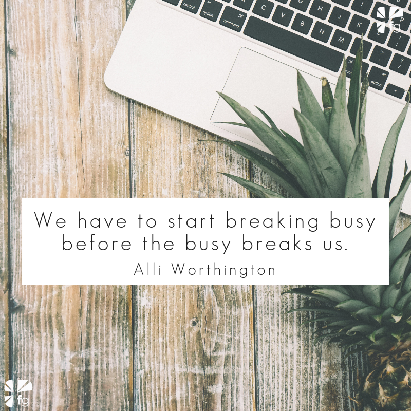 Breaking Busy: Jesus Needed Rest and So Do You