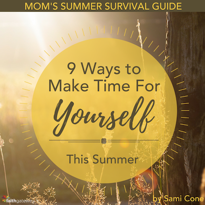 9 ways to make time for yourself this summer