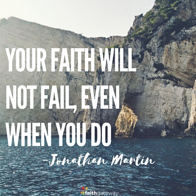 your faith will not fail you in a storm