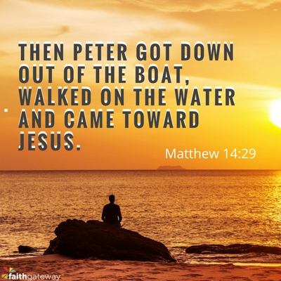 Christian song walk upon the water