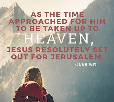 Jesus set out for Jerusalem