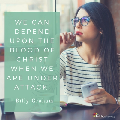 Look to Christ when under attack