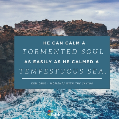 He can calm all things
