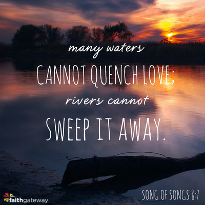 Many waters cannot quench love; rivers cannot sweep it away