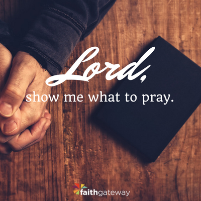 Lord, show me what to pray