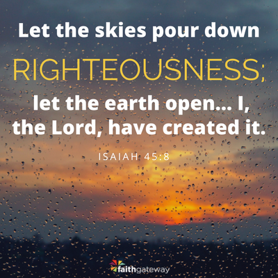 He embodies righteousness