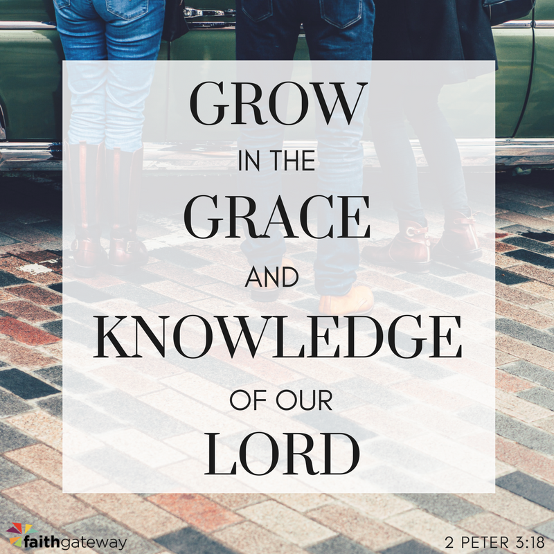 Grow in God's grace