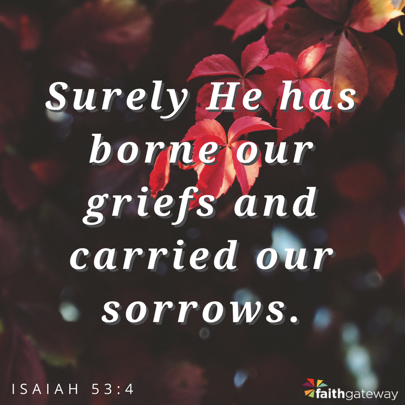 He carries our grief