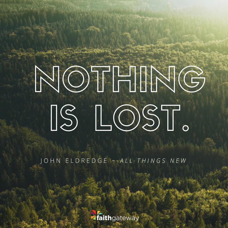 Nothing is lost.