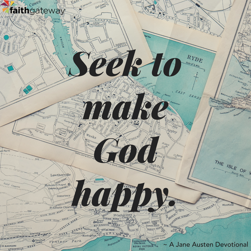 seek to make God happy, not to have internal pride.