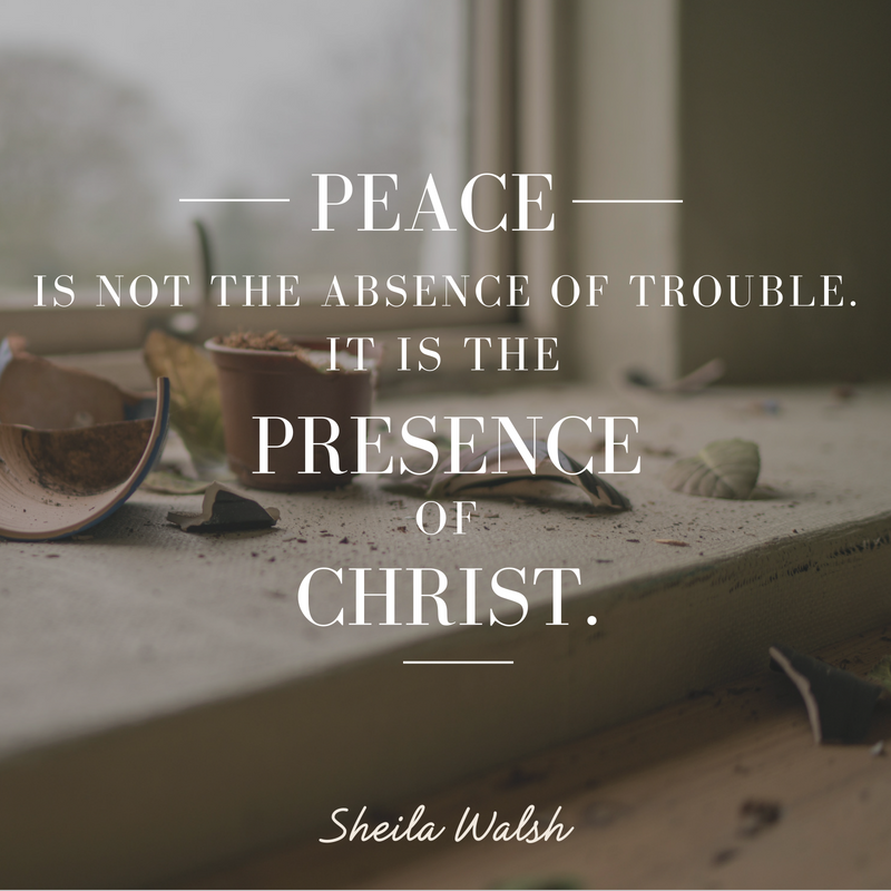 Peace in the Eye of the Storm | In the Middle of the Mess by Sheila Walsh