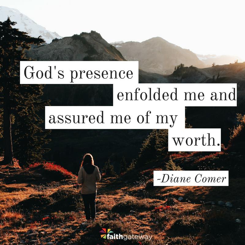 God speaks in the silence.