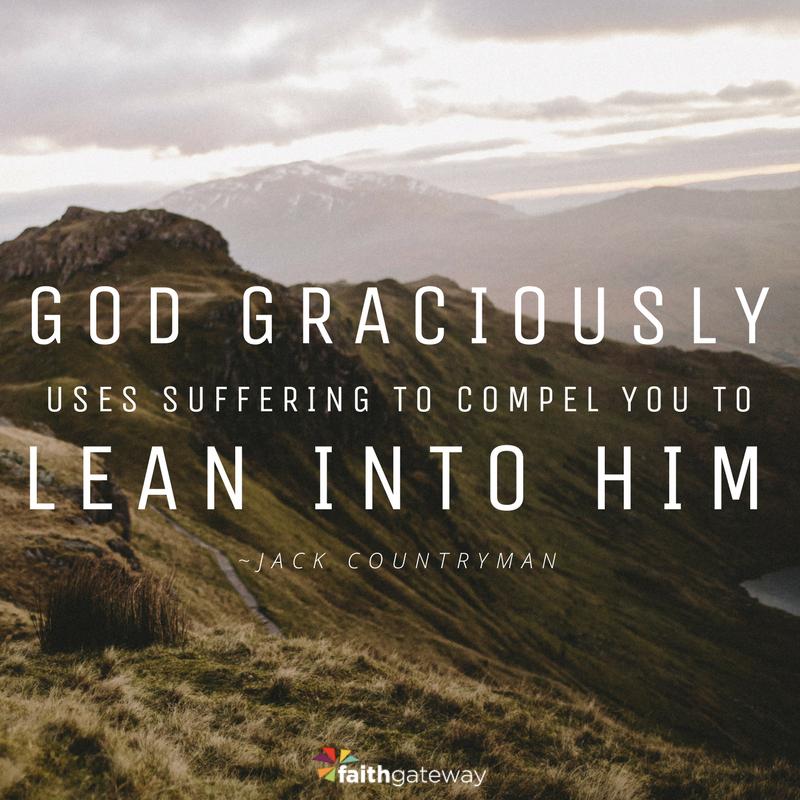 Lean into Jesus