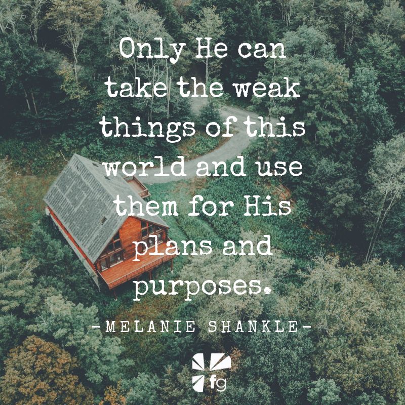 Building with Weak Things | Melanie Shankle, Everyday Holy