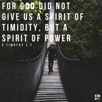 You have a spirit of power
