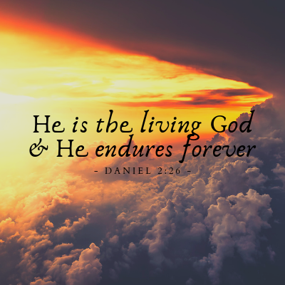 He is the Living God