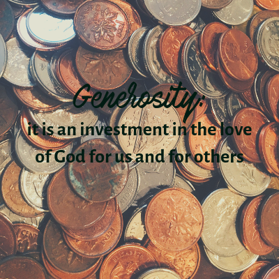 Generosity is an investment