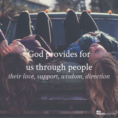 God provides through people