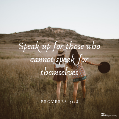 Speak up for others!