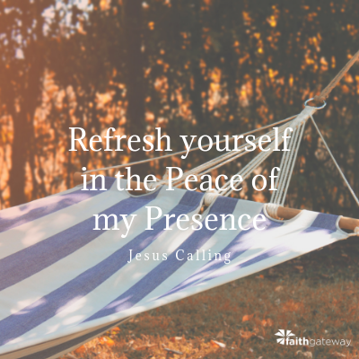 Rest in my presence