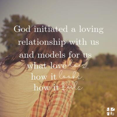 God models love for us