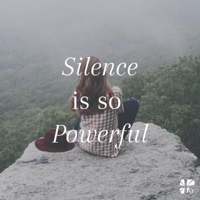 Silence is so powerful