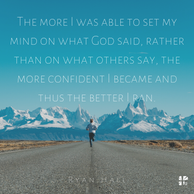 The more I focus on God, the better I run