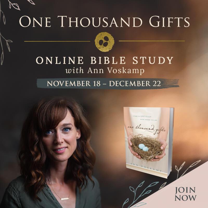 Ann Voskamp One Thousand Gifts Study