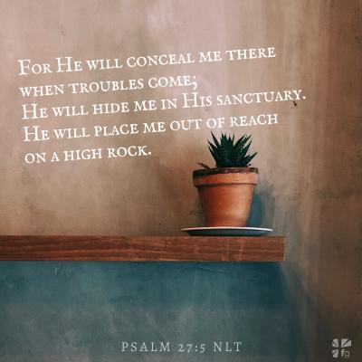 Psalm 27:5 NLT