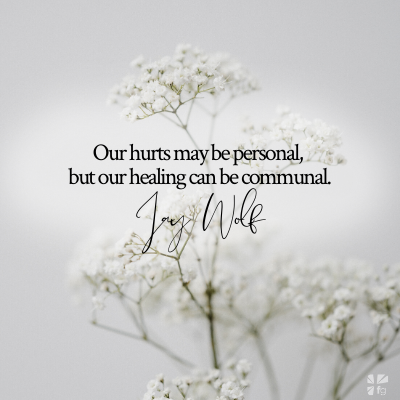 Our heal can be communal