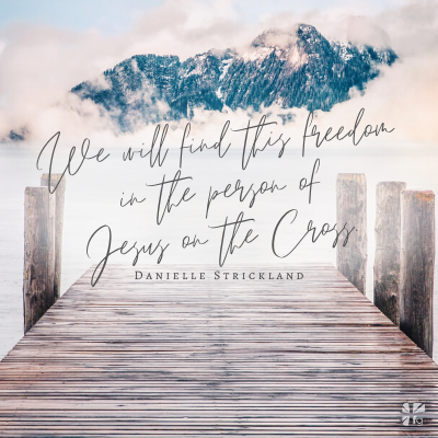find this freedom in the person of Jesus on the Cross