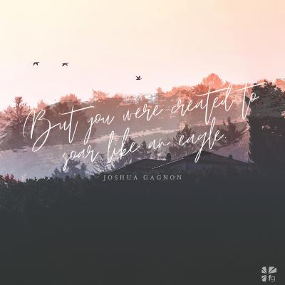 But you were created to soar like an eagle.