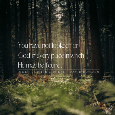 you have not looked for God in every place