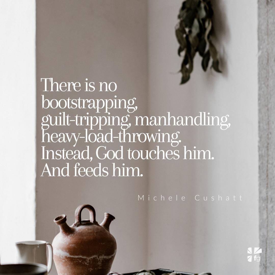 He offers Elijah comfort
