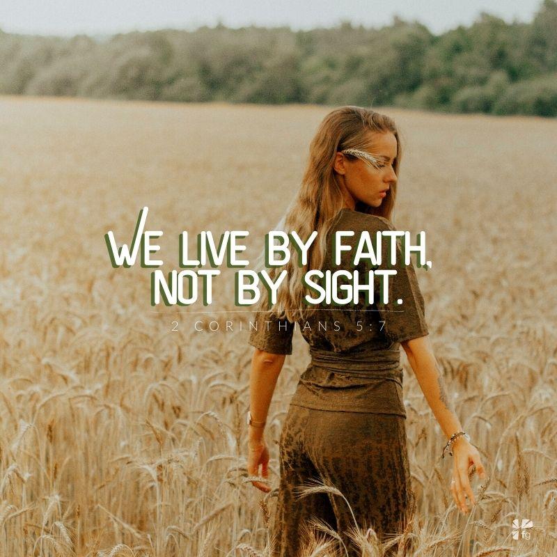 Follow Jesus, 2 Corinthians 5:7