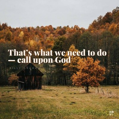 """That's what we ned to do - call upon God"""